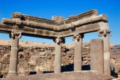 Synagogue ruins at Chorazin